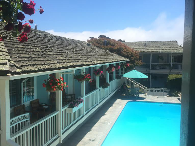 The pool at Carmel Bay View Inn