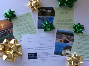 Hotel Gift Certificates for Carmel and Monterey preferred hotels and resorts
