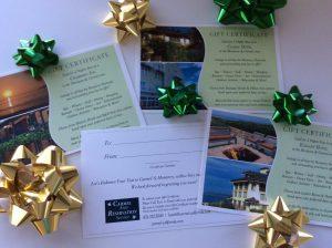 Hotel Gift Certificate for Carmel Monterey California